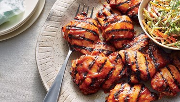 دجاج مشوي بالخردل والعسل.