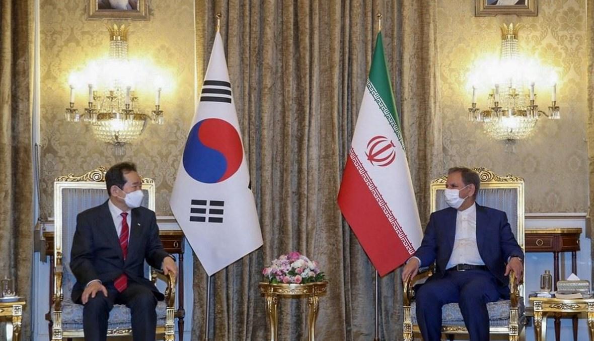 زيارة رئيس وزارة كوريا الجنوبية إلى إيران (أ ف ب).