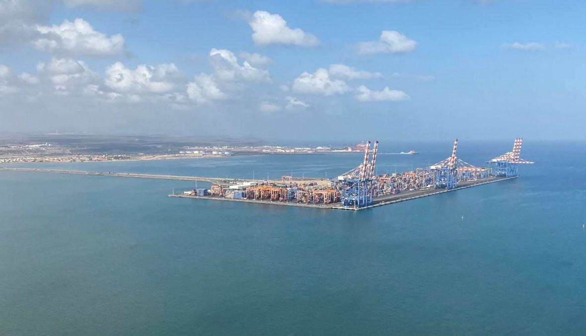 ميناء جيبوتي (1 شباط 2021، أ ف ب).