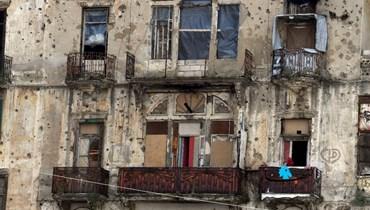 من آثار الحرب الأهلية في بيروت (تصوير حسام شبارو).
