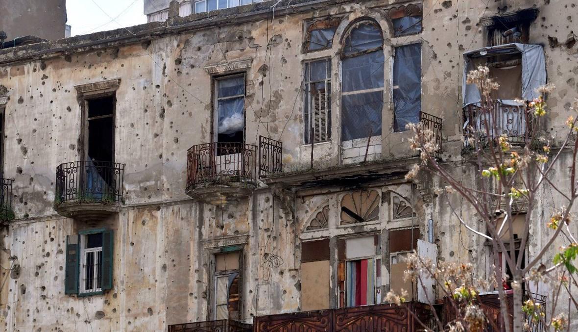 مبنى شاهد على آثار الحرب الأهلية (حسام شبارو).