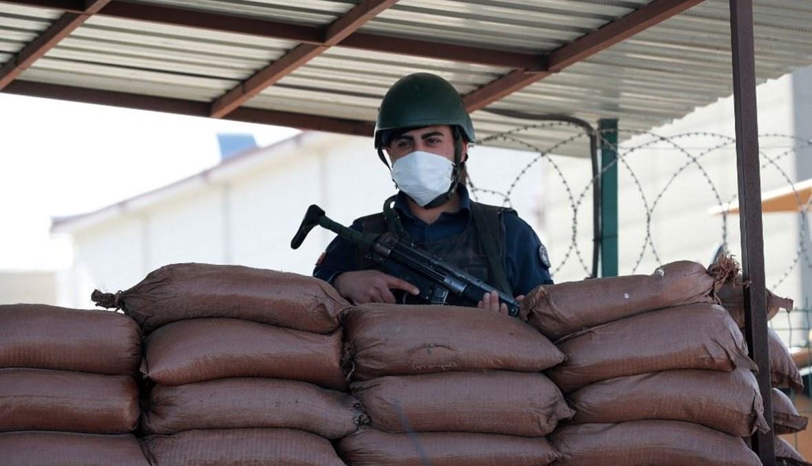 عنصر من القوات التركية (أ ف ب).