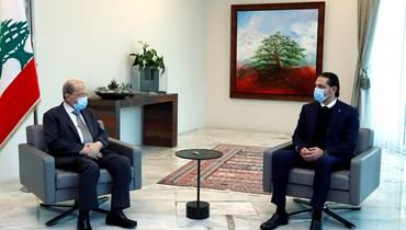 الرئيس ميشال عون والرئيس المكلف سعد الحريري