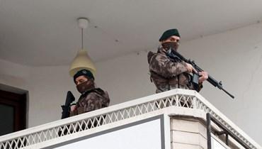 جنديان تركيان (أ ف ب).