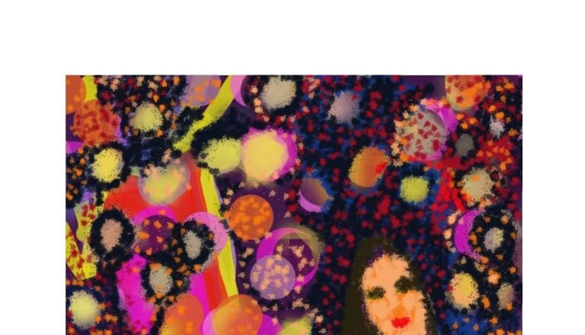 عمل فني أنجزته الفنانة الشابة ديانا عساكر.