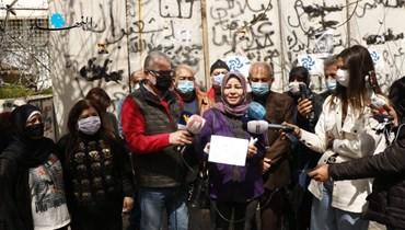 من اعتصام سابق أولياء الطلاب في الجامعات الأجنبية (حسن عسل).