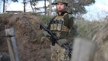 جندي اوكراني (ا ف ب)