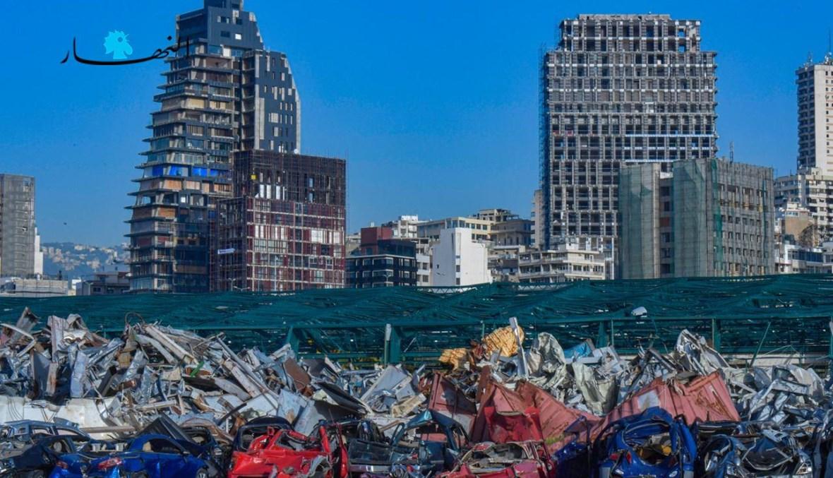 ركام انفجار آب في بيروت (نبيل اسماعيل).