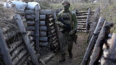 خندق عسكري في أوكرانيا (ا ف ب)