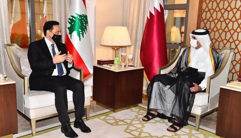 أمير قطر استقبل دياب