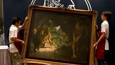 """لوحة """"العبد والأسد""""."""