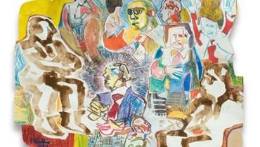 منصور الهبر معرضًا ممتازًا في غاليري LT  43 لوحةً تغمر سطح العدم بحياةٍ تشكيليّةٍ ساطعة