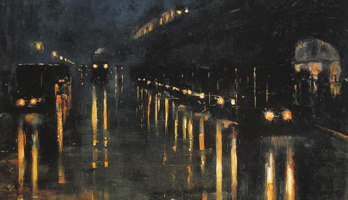 الليل.... لوحة لليو ليزر يوري.