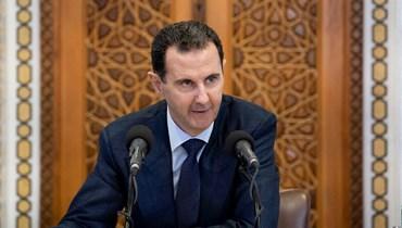 بشار الأسد (أ ف ب).