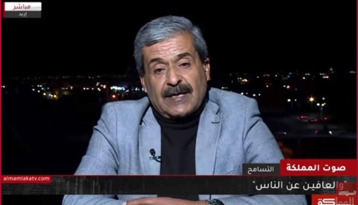 """لقطة شاشة لرجل الاعمال الاردني عبدالله العمري خلال حديثه الى برنامج """"صوت المملكة"""" (15 كانون الاول 2019، يوتيوب)."""