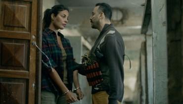 """نادين نجيم وقصي خولي في مشهد من """"2020""""."""