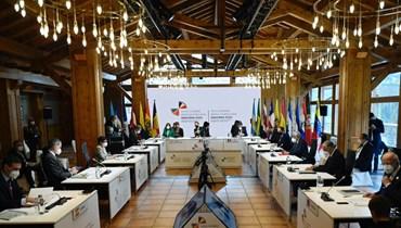 اجتماع لمجموعة الدول السبع (أ ف ب).