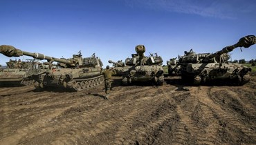الجيش الإسرائيلي في الجولان المحتل (أ ف ب).