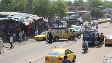 صورة لشارع في نجامينا بتشاد (21 نيسان 2021، أ ف ب).