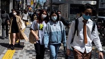 كورونا يتفشّى في طوكيو (أ ف ب).