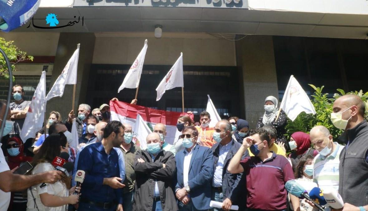 خلال الاعتصام (تصوير حسن عسل).