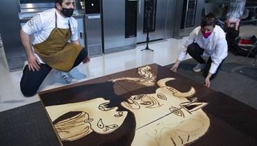 نسخة جديدة من لوحة (غيرنيكا) لبيكاسو... لكن من الشوكولا (صور)