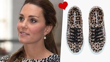 بطبعات الفهد... الأحذية الرياضية المفضلة لكيت ميدلتون