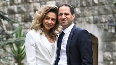 سامي الجميّل وزوجته.