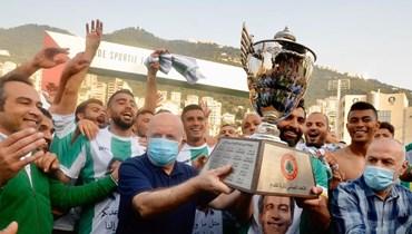 """بطولة لبنان عادت الى """"زعيمها""""... للمرة الـ14 """"الأنصار على سن الرمح"""""""