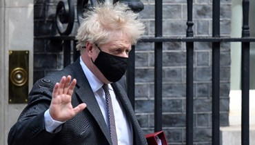 رئيس الوزراء البريطاني بوريس جونسون (أ ف ب).