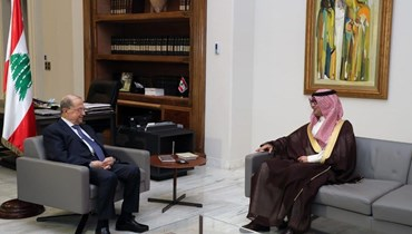 السفير السعودي في قصر بعبدا.