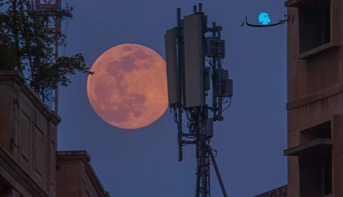 القمر الزهري كما بدا مساء أمس (نبيل اسماعيل).