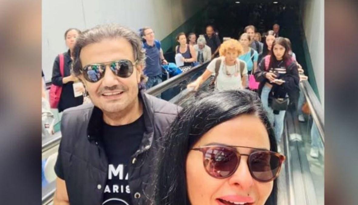 سمير صفير وزوجته.