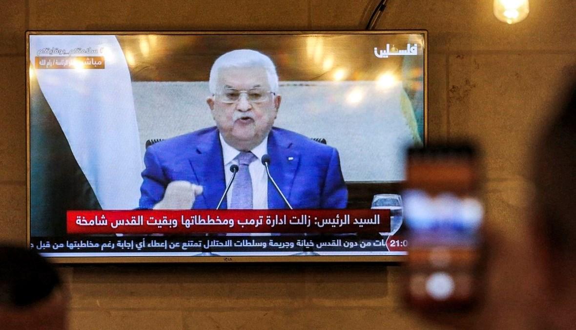 الرئيس الفلسطيني محمود عباس (أ ف ب).