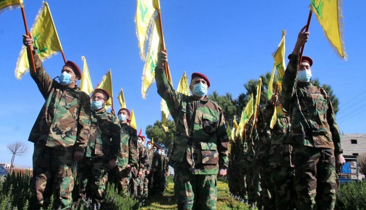 """عناصر لـ""""حزب الله"""" (تعبيرية- """"أ ف ب)."""