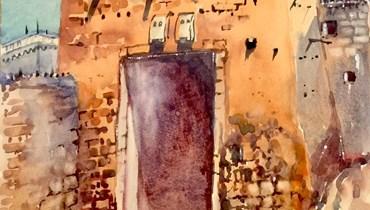 بوّابة الرياض في لوحة شوقي دلال.
