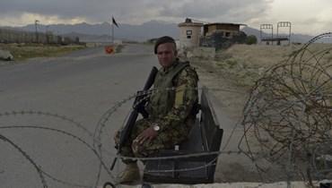 شرطيّ في أفغانستان (أ ف ب).