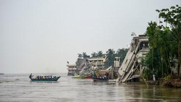 نهر بادما في بنغلادش (أرشيفية- أ ف ب).