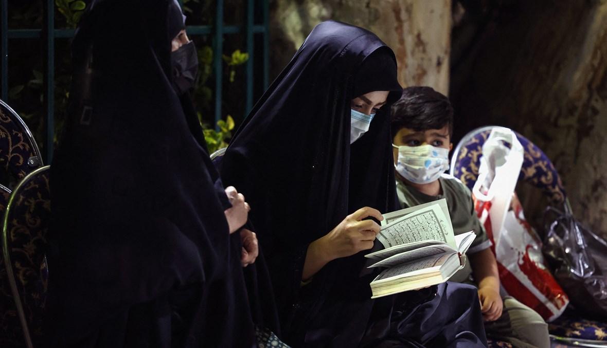 إيران خلال إحياء ليالي القدر في شهر رمضان (أ ف ب).