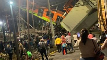انهيار جسر في مكسيكو.