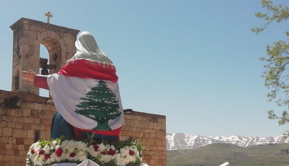 صلاة لخلاص لبنان في أيام العيد المجيدة (تعبيرية- الصورة من الشمال).