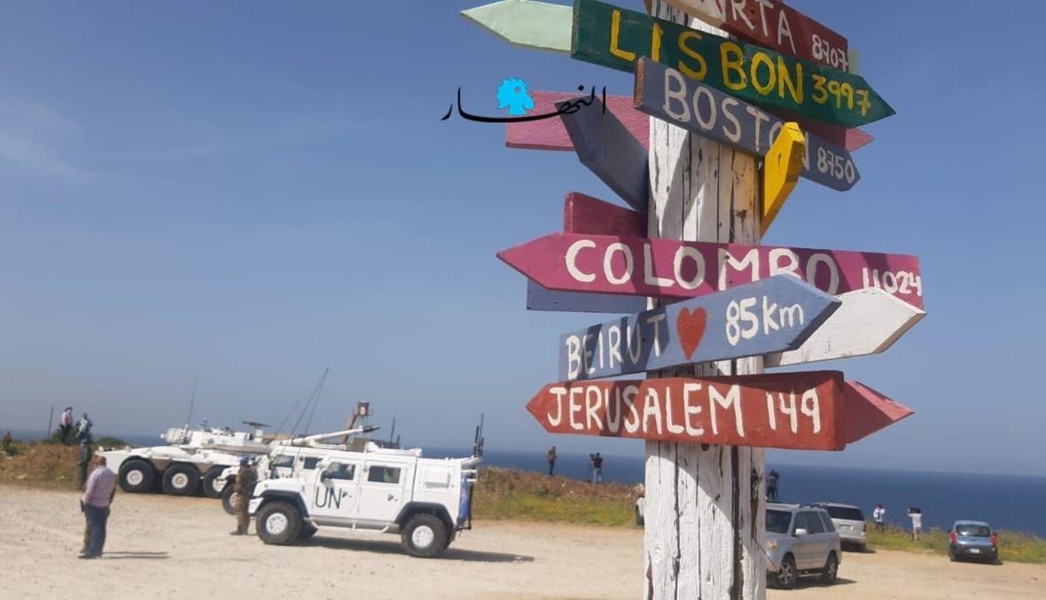 صول الوفود المشاركة في استئناف جولات المفاوضات  غير المباشرة بين لبنان وإسرائيل حول ترسيم الحدود البحرية الجنوبية (أحمد منتش).