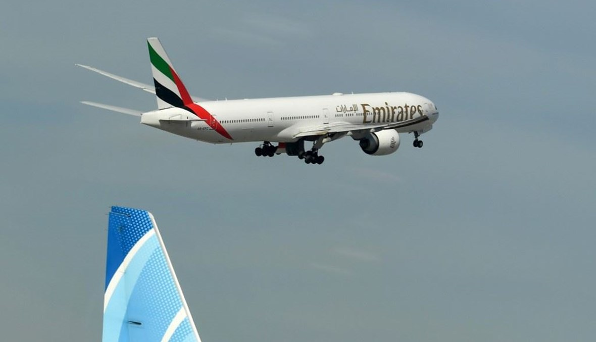 """""""طيران الإمارات"""" (أ ف ب)."""