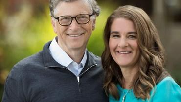 بيل غيتس وزوجته.