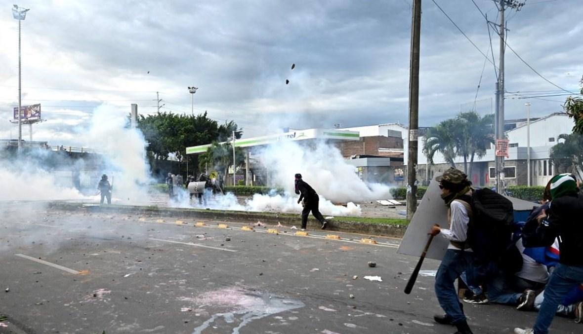أعمال عنف في كولومبيا (أ ف ب).