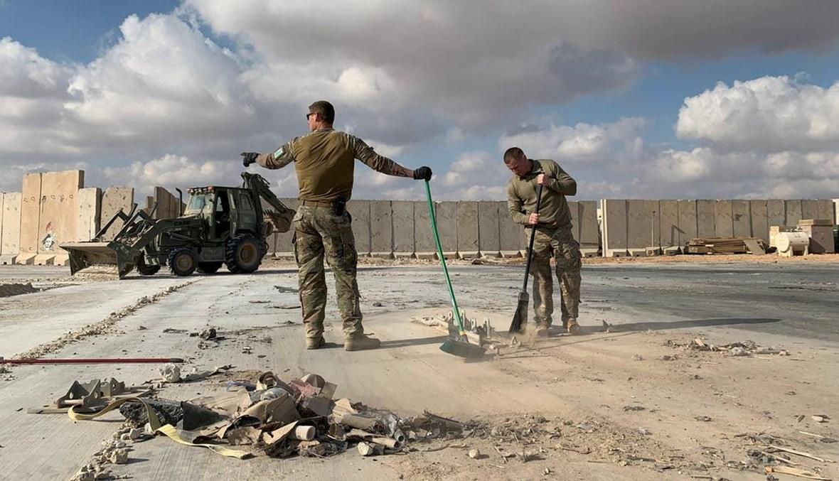 هجوم سابق على قاعدة عين الأسد (أ ف ب).