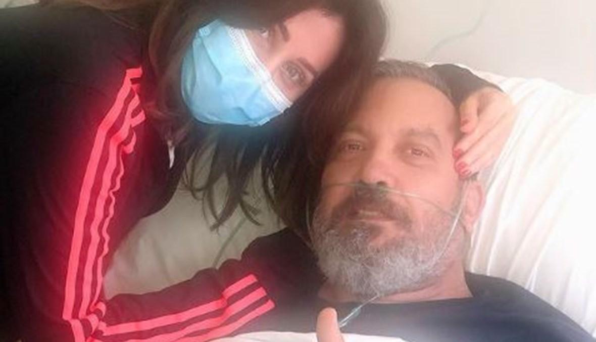 زاهي وهبي ورابعة الزيات في المستشفى.