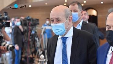 """وزير الخارجية الفرنسي جان إيف لودريان (""""النهار"""")."""