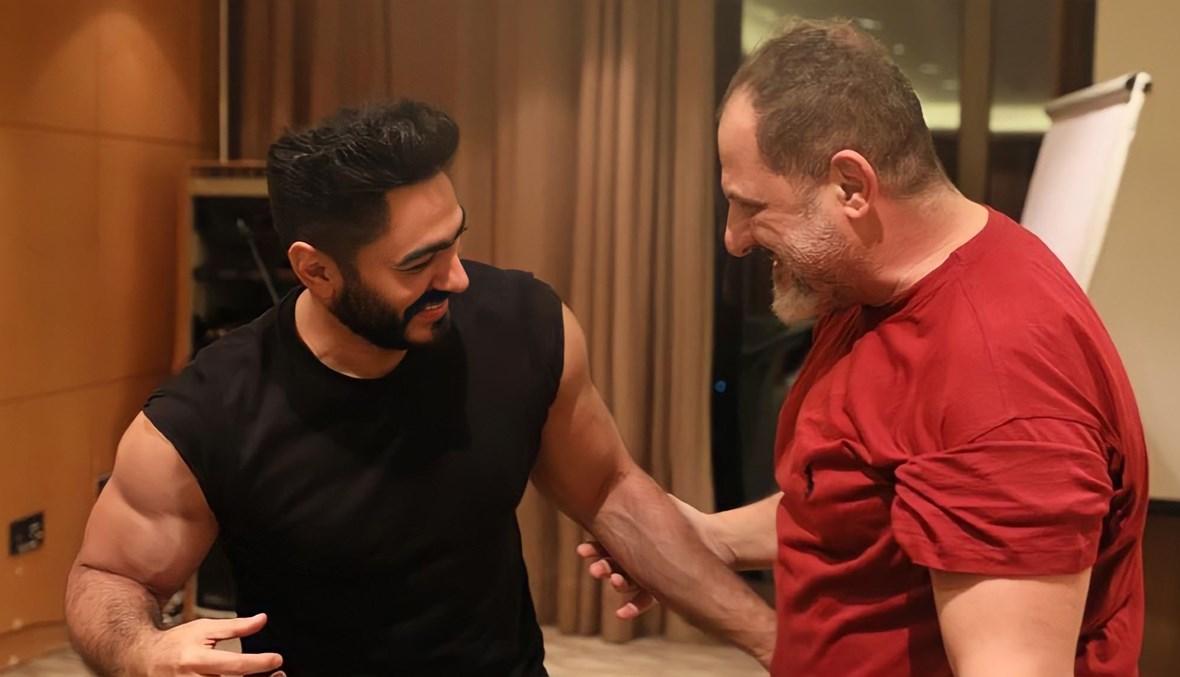 خالد الصاوي وتامر حسني.