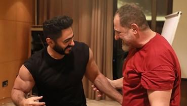خالد الصاوي يشكر تامر حسني... أشاد بأدائه في مشهد الانتحار